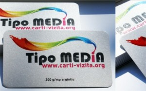 carti de vizita carton argintiu