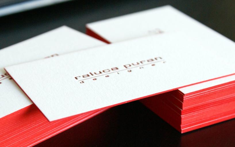 carti de vizita folio cant rosu