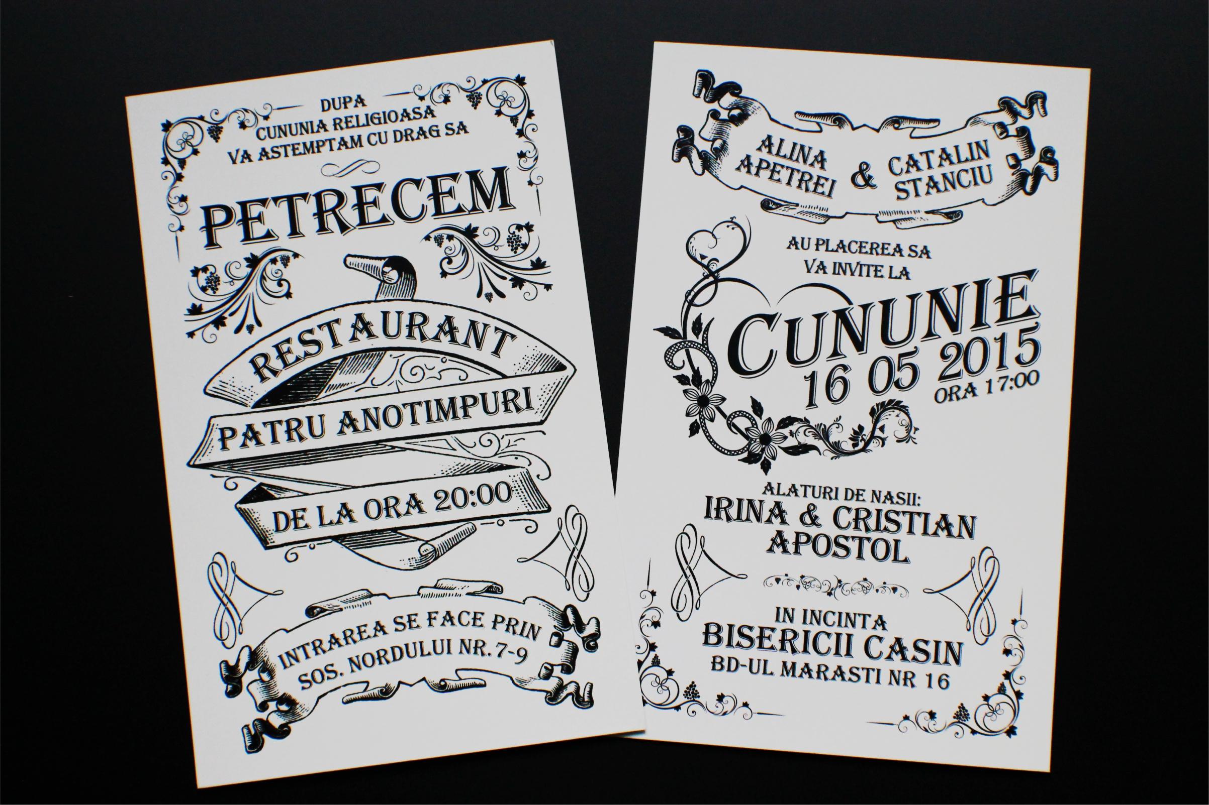 Invitatii De Nunta Personalizate Tipomedia Tipografie